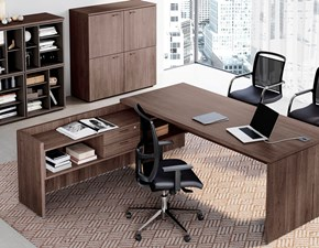 Tavolo Scrivania e ufficio direzionale completo delta evo Las mobili per ufficio in OFFERTA OUTLET
