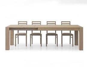 Tavolo Seppia in legno spazzolato