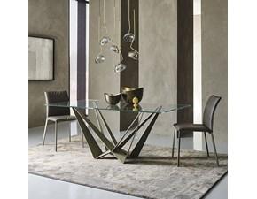 Tavolo Skorpio Cattelan italia in vetro Fisso