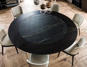 Tavolo Skorpio ker-wood round Cattelan italia in ceramica Fisso
