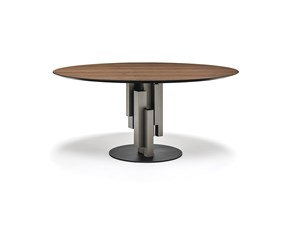Tavolo Skyline wood round Cattelan italia in OFFERTA OUTLET