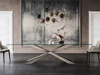 tavolo spyder cattelan italia vetro legno wood