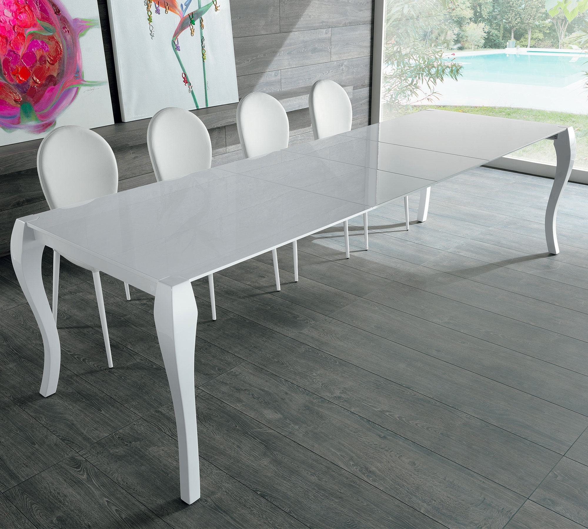 Tavolo stones shining rettangolari rettangolari for Outlet tavoli moderni allungabili