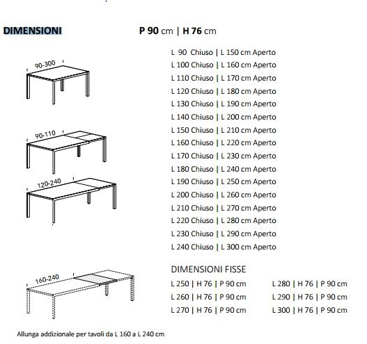 Tavolo su misura allungabile finitura al campione ral tavoli a prezzi scontati - Dimensioni tavolo tondo 4 persone ...