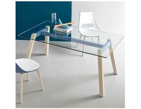 Tavolo T-table rettangolare Connubia in vetro Fisso