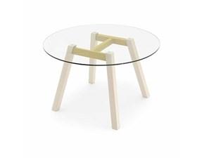 Tavolo T-table Rotondo Connubia in vetro Fisso