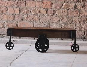 Tavolo Tavolino da salotto industrial con ruote ferro  Outlet etnico a prezzo scontato 60%