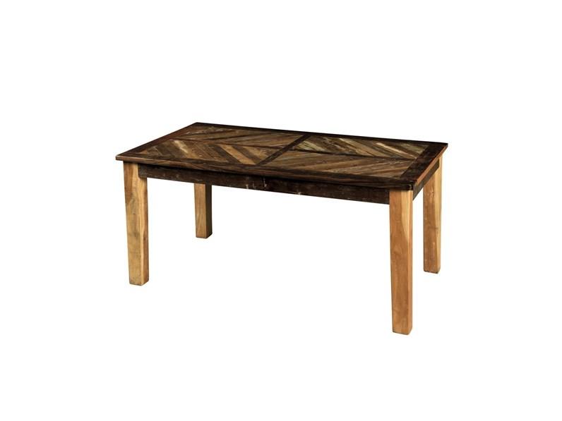 Tavolo tavolo allungabile legno losanghe in offerta outlet for Arredamento etnico economico