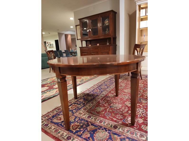Tavolo Tavolo con 4 sedie Mazzantica in legno Rotondo allungabile