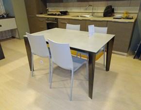Tavolo Tavolo cruz xxl 20.69 + 4 sedie eva 04.22 Bontempi casa in ceramica Rettangolare allungabile