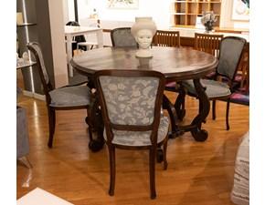 Tavolo Tavolo fratino legno antico massello noce + n. 4 sedie  Artigianale a prezzo ribassato