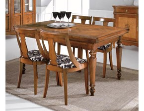 Tavolo Tavolo in legno allungabile intarsi in noce mottes mobili Artigianale in legno Allungabile