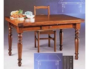Tavolo Tavolo in legno allungabile mottes mobili Artigianale a prezzo ribassato 50%