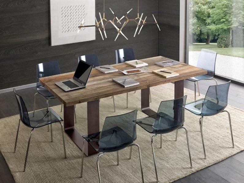 Offerta Mobili Design.Tavolo Tavolo In Rovere Design Moderno Mottes Mobili Artigianale In Offerta Outlet