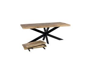 Tavolo Tavolo industrial legno ferro  allungabile in offerta Outlet etnico in legno Allungabile