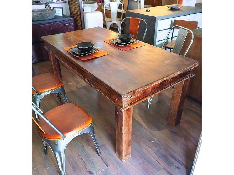 Tavolo tavolo legno massello india etnico outlet etnico in offerta outlet for Etnico outlet