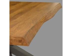 Tavolo Tavolo maxi scortecciato rovere massello  Md work in legno Fisso