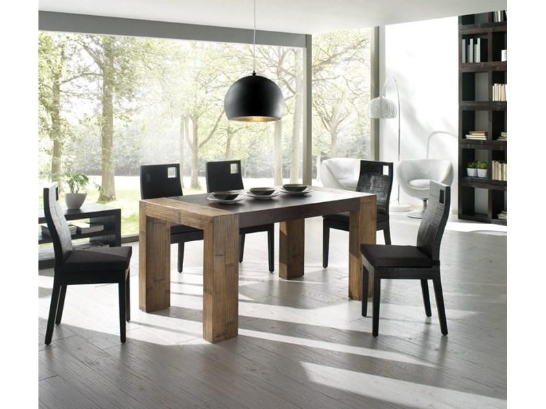 Tavolo tavolo noce crash bambu 39 di nuovi mondi cucine in for Outlet tavoli moderni allungabili