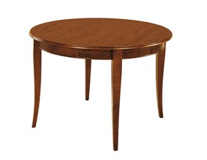Tavolo Tavolo-rotondo-all. in legno colore noce in promo-sconto del 50% Artigiani veneti in legno Rotondo allungabile