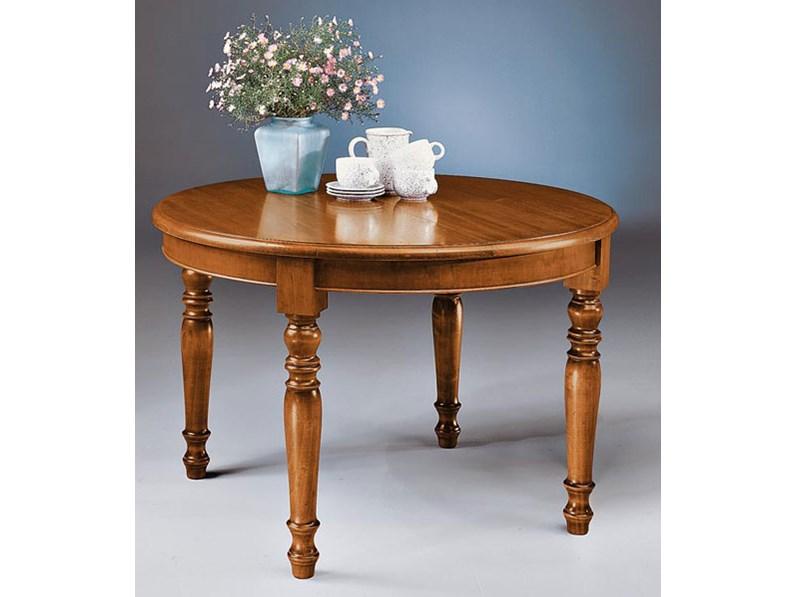 Tavolo tavolo rotondo allungabile legno in stile classico for Tavolo rotondo allungabile legno