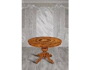 Tavolo Tavolo-rotondo intarsiato-allungabile in promo-sconto del 50% Artigiani veneti in legno Rotondo allungabile