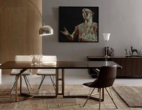 Tavolo Tolomeo Esedra in legno Fisso