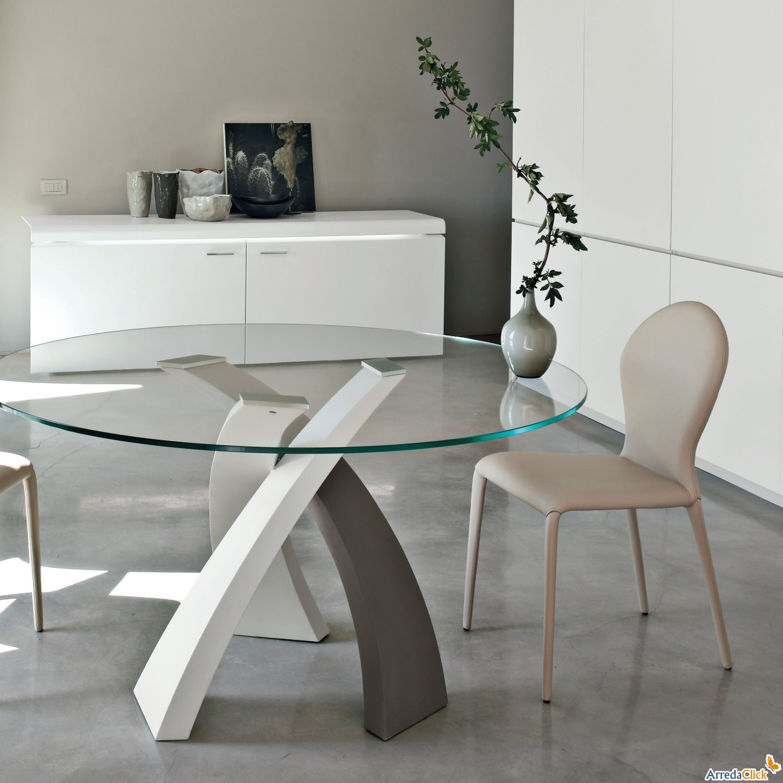 Tavolo eliseo tondo tonin casa tavoli a prezzi scontati for Tavolino salotto moderno vetro design bianco ovale