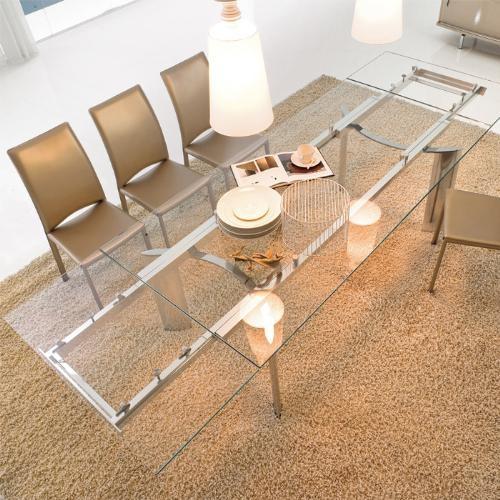 Tavolo arcos tonin casa tavoli a prezzi scontati - Tavolo in cristallo allungabile ...