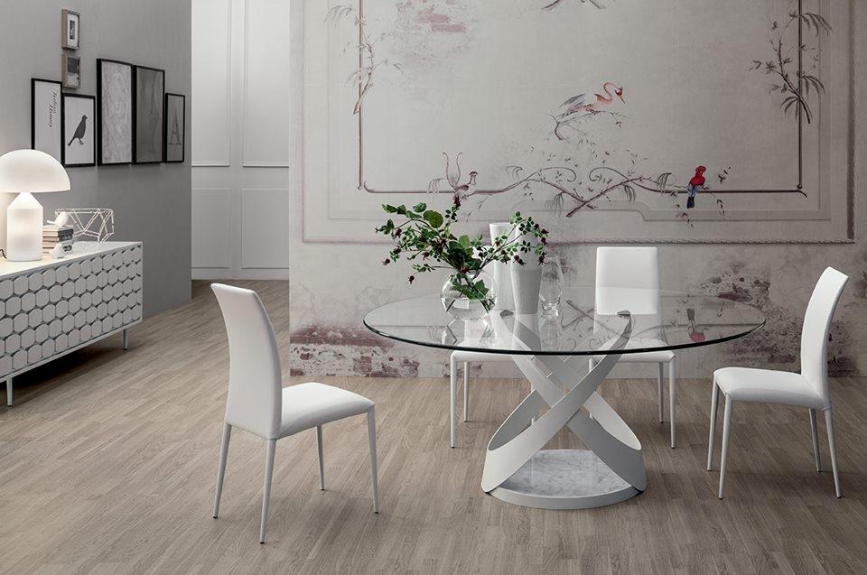 Tavolo tonin casa mod capri ovali fissi tavoli a prezzi for Tavoli ovali moderni