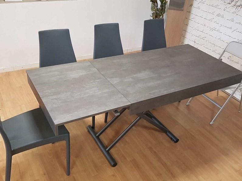 Tavolo trasformabile rettangolare mod up ozzio in for La forma tavoli