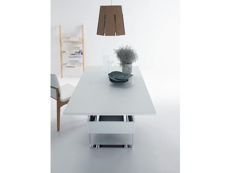 Tavolo trasformabile sedit - Tavolino che diventa tavolo da pranzo ...