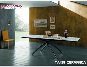 Tavolo Twist Zamagna in ceramica Allungabile