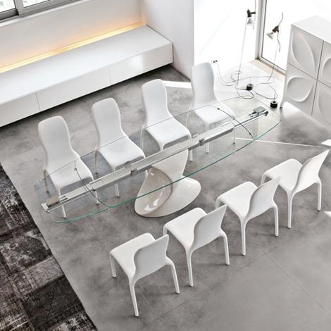 Sconto 65 tavolo allungabile in vetro marca tonin casa for Outlet tavoli moderni allungabili