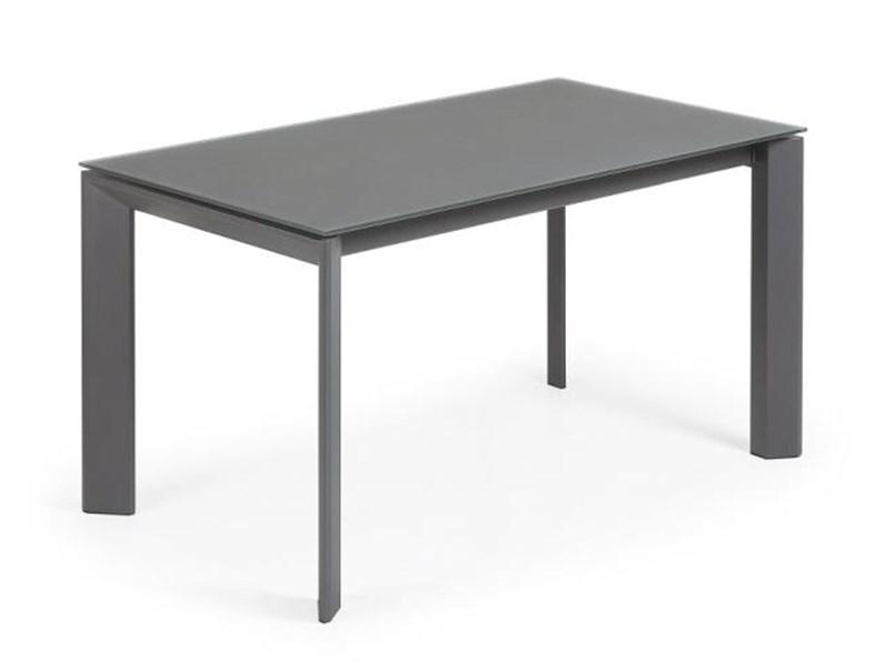 Tavolo vetro e struttura grafite allungabile for 2000 arredamenti cesano maderno