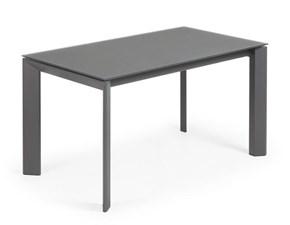 Tavolo vetro e struttura grafite Allungabile