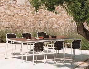 Tavolo Yard Emu in metallo Rettangolare allungabile