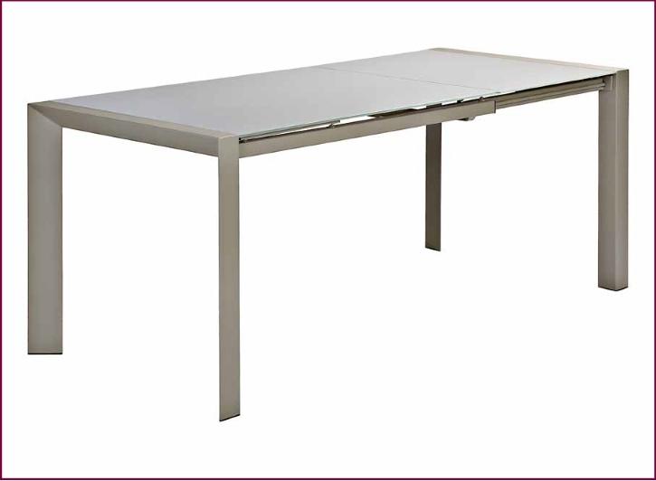 Thomas tavolo allungabile acciaio e vetro serigrafato for Tavolo vetro satinato