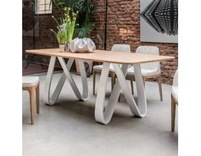 tavolo moderno 100 x 200 piano in legno rovere naturale scontato