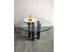 Tavolo Zanotta mod.  Brentano D.115 piano in cristallo bisellato scontato del 74%